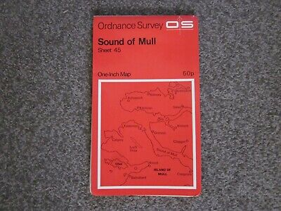 Sound Of Mull   -  Ordnance Survey One-Inch Map . Sheet 45  .  (12)