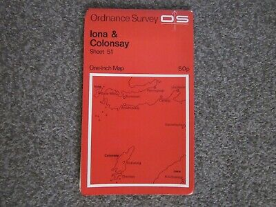 Iona & Colonsay   -  Ordnance Survey One-Inch Map . Sheet 51  .  (12)