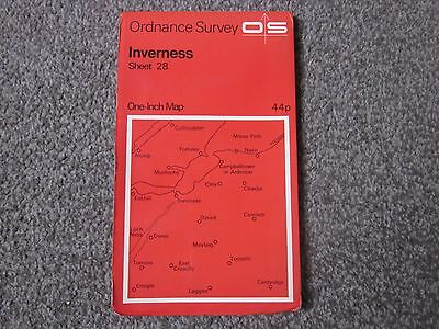 Inverness  .  Ordnance Survey One-Inch Map  .  Sheet 28  , 1967  +