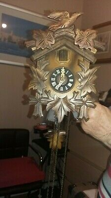 Hand-Carved German Black Forest Cuckoo Clock