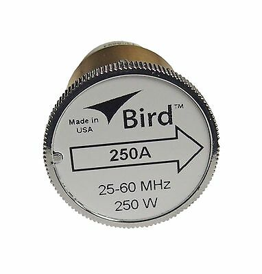 New Bird 250A Plug-in Element 0 to 250 watts 25-60 MHz for Bird 43 Wattmeters