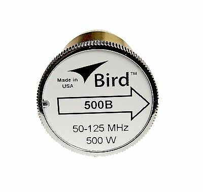 Bird 500B Plug-in Element 0 to 500 watts 50-125 MHz for Bird 43 Wattmeters
