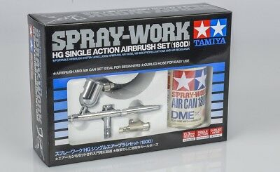 Tamiya 74525 - Aerografo Spray Lavoro Aerografo Set Hg Single/180D - Nuovo