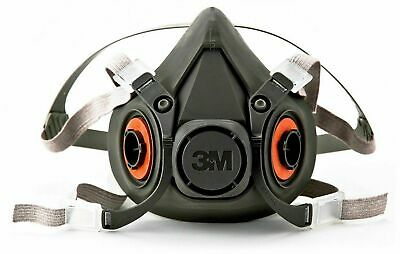 3M Respirator Half Face Mask Protection Welding Industrial Reusable Large Comfor