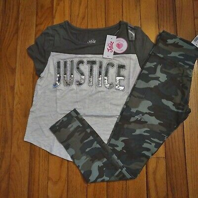 NWT Justice Girls Outfit Critter Tie Hem Tee//Denim Shorts Size 7 8