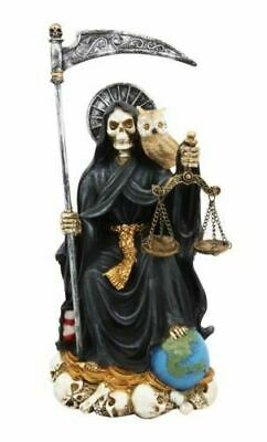 "Resin Holy Death Santa Muerte Day of The Dead Patron of Protection Figurine 9""H"
