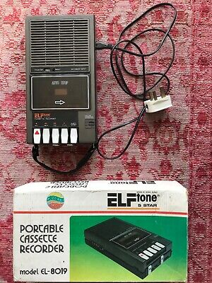 ELFTONE 5 STAR Cassette Recorder EL-8019 With Power Cable And Box WORKING