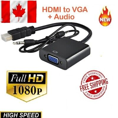 NEW HDMI Male to VGA Female 1080p Video Converter Adapter Cable for pc computer