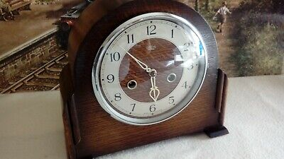 Antique Striking  Mantle clock in excellent restored serviced working condition