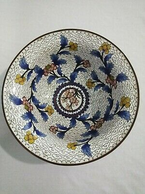 Very Nice Antique Chinese Cloisonne Bronze Bowl Must See No Reserve!