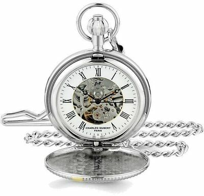 Charles Hubert Two-Tone Hunter Case White Dial Pocket Watch