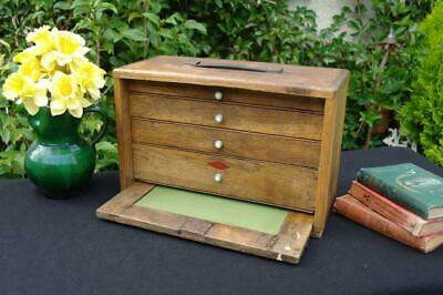 Vintage Neslein Oak Engineers Cabinet Tool Chest 1940s Industrial Desk Tidy CHIC