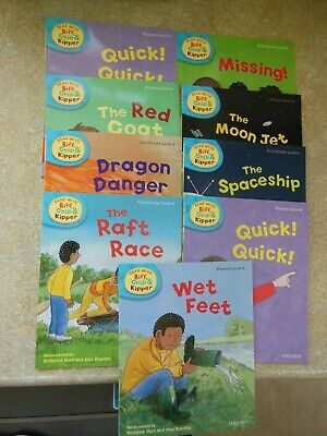 9 x read with biff chip and kipper phonics and first stories - level 4