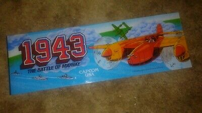 1943 CRACKED AND REPAIRED-Capcom ORIG.TOP HEADER/MARQUEE-L@@K!