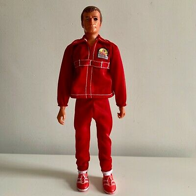 "The Six Million Dollar Man Replacement New Red tracksuit for 13"" Vintage figure"