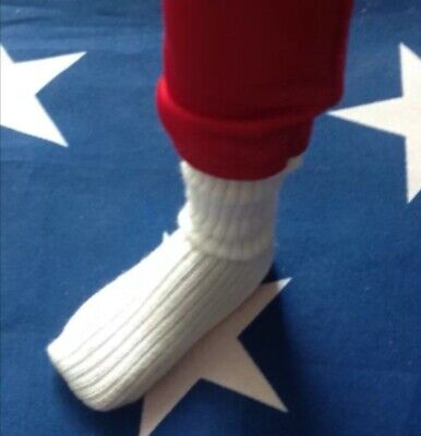 """The Six Million Dollar Man Replacement White Socks for 13"""" Action Figure Bionic!"""