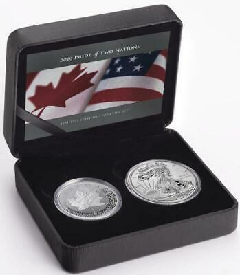 Canada/US - 2019 Pride of Two Nations Two Coin Set (SML Eagle Canadian Package)