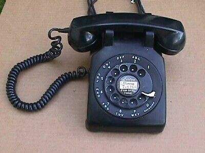 1954 Black Western Electric Rotary Desk Telephone Model 500- Untested