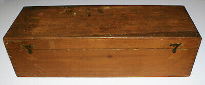"""Antique Wooden Dovetailed Box Made to Hold 52 Standard Magic Lantern Slides 14"""""""