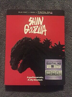 SHIN GODZILLA 2016 Blu Ray/DVD with Slipcover Monster Sci-Fi Action