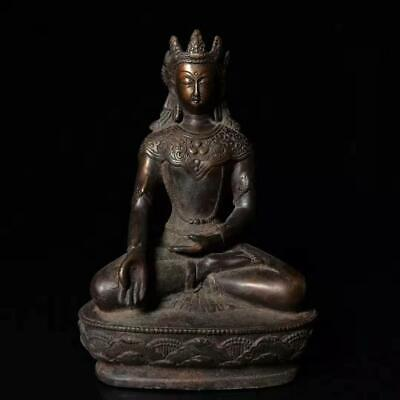 Ancient Chinese Pure Copper Guanyin Bodhisattva Folk Collection sx 081
