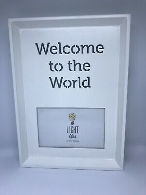 Nursery Baby Light Up Wooden Photo Frame
