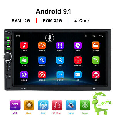 2DIN Android 9.1 Car Radio GPS Navigation Audio Stereo Multimedia MP5 Player