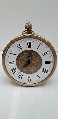 Rare Seiko White French Enamelled Chapter Ring Heavy Brass Mantle Clock Working
