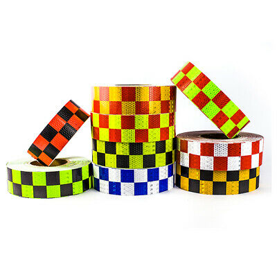 Brand New Self-Adhesive Reflective Tape High Quality High Intensity Chequer UK