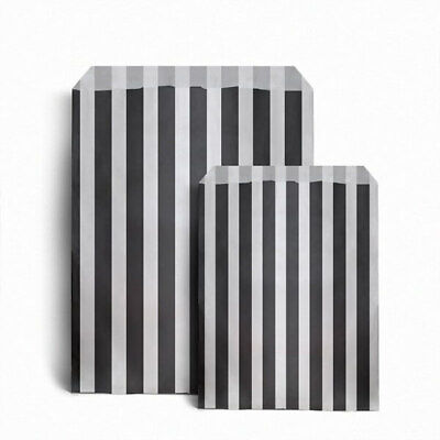 Black Striped Candy Paper Bags For Sweet Favour Buffet Wedding Cake Shop