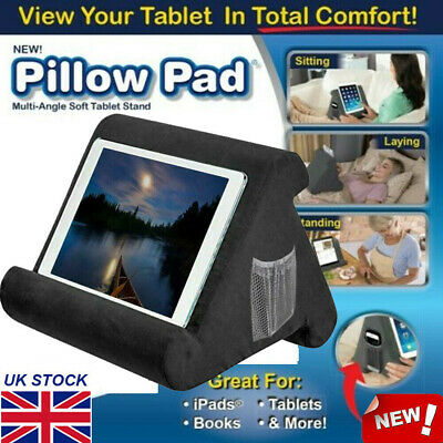 Multi-Angle Soft Pillow Lap Stand For iPad Tablets eReader Book Magazine UK