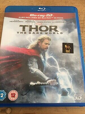 Thor - The Dark World (3D Blu-ray, 2014, 2-Disc Set, Box Set)