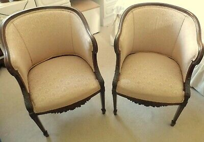 Two Victorian Pink Armchairs.