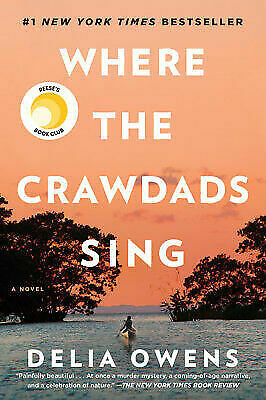 Where The Crawdads Sing by Delia Owens (2018, Hardcover) EUC Free Shipping