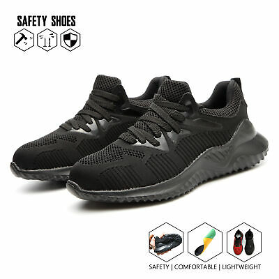 Mens Safety Shoes Trainers Steel Toe Cap Womens Work Boots Hiking Lightweight