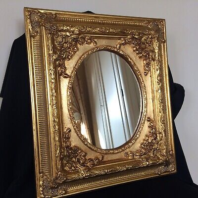 Vintage Rococo Baroque French Style Gold Leaf  Gesso Mirror
