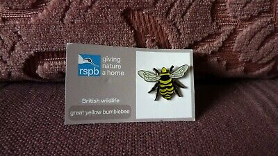 Collectable RSPB Pin Badge-British Wildlife- Great Yellow Bumblebee- New