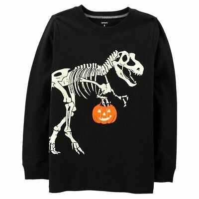 NWT ☀CARTERS☀  DINOSAUR Boys GLOW IN THE DARK  t-shirt  HALLOWEEN  4/5