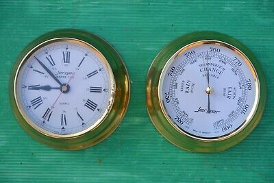 Jerger Clock And Barometer Set Made In Germany
