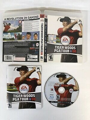 Tiger Woods PGA Tour 08  Sony Playstation 3 PS3 Golfing Video Game Golf Complete