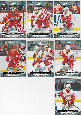 19/20 UD MVP Detroit Red Wings Team Set with RCs - Larkin Zadina RC Hirose RC +