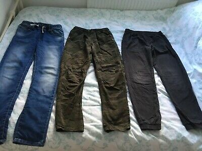 3 Pairs Age 13-14 Trousers Boys Gap George Elasticated Waists