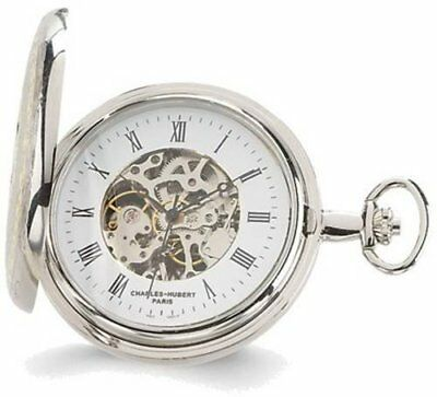 Charles Hubert Two-tone White Dial Pocket Watch XWA1909