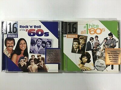 """Ultimate 16 Originals 2 CD Lot """"Rock'n'Roll of the '60s"""" & """"All #1 Hits '60s"""""""