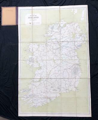 1897 Railway Clearing House Official Railway Map of Ireland - Rare Irish Railway