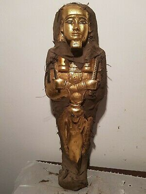 Rare Antique Ancient Egyptian Ushabti Servant God Isis Health Cure1840-1750BC