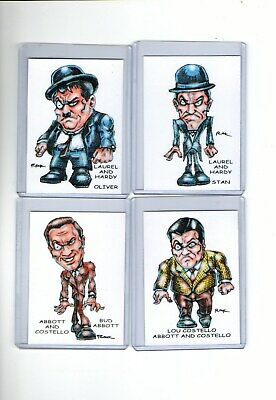 Comedy Teams (4 Cards) Art Bud Abbott Lou Costello Stan Laurel Oliver Hardy