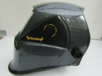 AUTO DARKENING WELDING HELMET WELDERS MASK Solar Powered CARBON FIBRE** Design