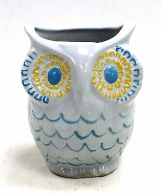 """GEMINESSE Owl Shaped Pot Cup Vintage MAX FACTOR Beauty Menagerie 5"""" Tall - A23"""