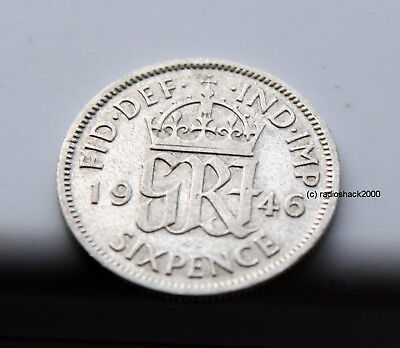 1946 King George V Lucky Sixpence 6d 50% silver. Wedding, Anniversary, Birthday.